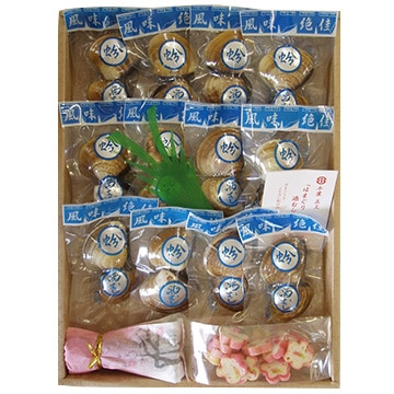 株式会社正上 蛤酒蒸しお吸物セット(蛤酒蒸し2個×12袋 だし醤油30ml 花麩10g)