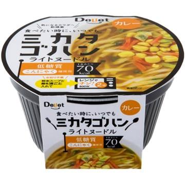 寿マナック株式会社 こんにゃく麺 ミカタゴハン ライトヌードル カレー(12個入)