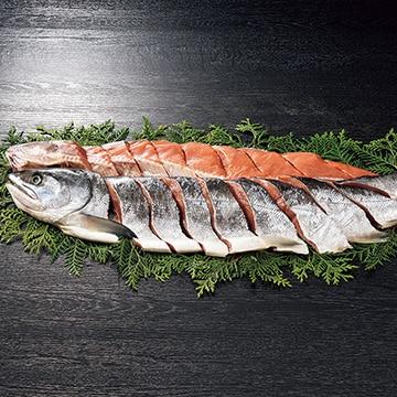 ギフト商社 株式会社FUJI 知床めじか鮭姿切身(甘塩)1.9kg
