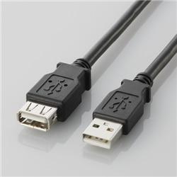 ELECOM USB2.0準拠 延長ケーブル Aタイプ/0.5m(ブラック) U2C-E05BK