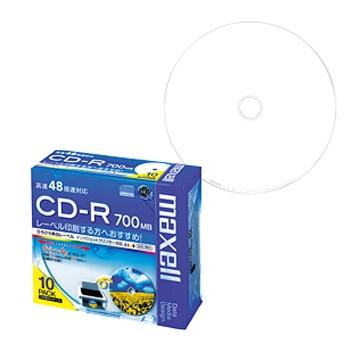 maxell データ用CD-R 48x 700MB 1枚ずつPケース入10P CDR700S.WP.S1P10S