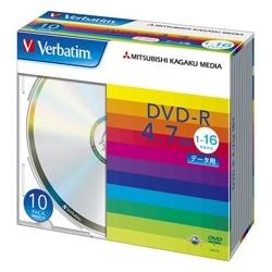 三菱電機 DVD-R 4.7GB データ用 16X 10枚スリム シルバー DHR47J10V1