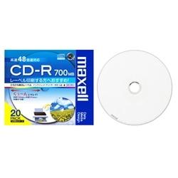 maxell データ用CD-R48倍700MB1枚ずつPケース入20枚P CDR700S.WP.S1P20S