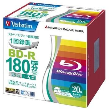 三菱電機 BD-R 25GB 130分 1-4倍速 ケース5枚 ホワイト VBR130YP20V1