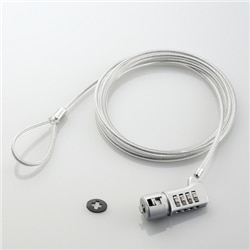 ELECOM セキュリティスロット対応 セキュリティワイヤー/4桁ダイヤル式タイプ ESL-37