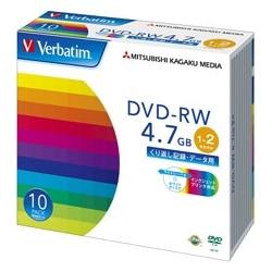 三菱電機 DVD-RW 4.7GB データ用 2X 10枚 ワイド印刷可 DHW47NP10V1