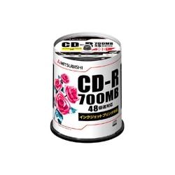三菱電機 CD-R 700MB 4~48倍速 100枚スピンドル印刷可 SR80PP100