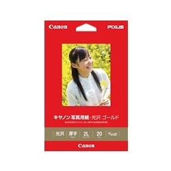 CANON 写真用紙・光沢 ゴールド 2L判 20枚 2310B004