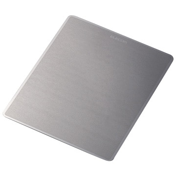 ELECOM レーザー&光学 メタリックマウスパッド(ダークシルバー) MP-112BK
