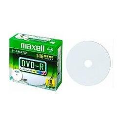 maxell データ用DVD-R 4.7GB 1-16x 10P プリンタブル DR47WPD.S1P10SA