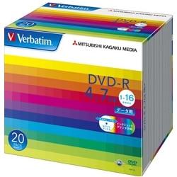三菱電機 DVD-R 4.7GB データ用 16x 20Pスリム ワイド印刷可 DHR47JP20V1
