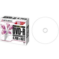 三菱電機 DVD-R 4.7GB データ用 16x 5mmケース10P ホワイト DHR47JPP10