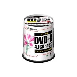 三菱電機 DVD-R 4.7GB 16倍速 100枚スピンドル ワイド印刷 DHR47JPP100
