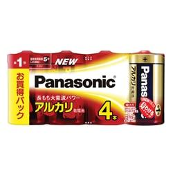 Panasonic アルカリ乾電池 単1形 4本シュリンクパック LR20XJ/4SW