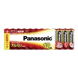 Panasonic アルカリ乾電池 単3形 12本シュリンクパック LR6XJ/12SW