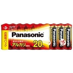 Panasonic アルカリ乾電池 単3形 20本シュリンクパック LR6XJ/20SW