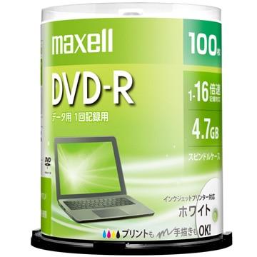 maxell データ用DVD-R 4.7GB 1-16X プリンタブル 100SP DR47PWE.100SP