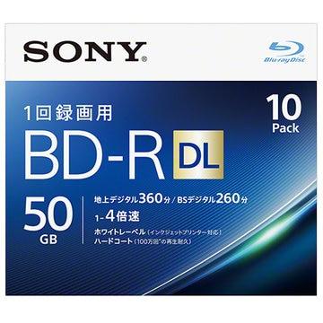 SONY ビデオ用BD-R DL 50GB 4X プリンタブル 10P 10BNR2VJPS4