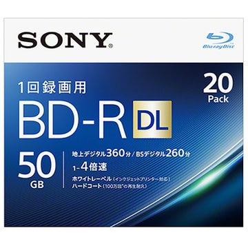 SONY ビデオ用BD-R DL 50GB 4X プリンタブル 20P 20BNR2VJPS4