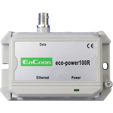 eco-power100R (BNC) PoE Ext over Coax