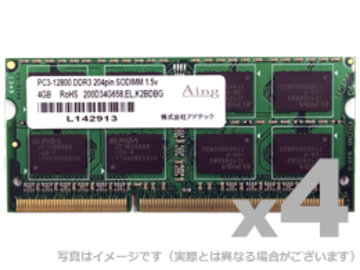 DDR3-1600 204pin SO-DIMM 4GB×4