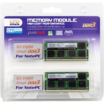 PC3-12800 CL11 8GB×2 1.35V DDR3