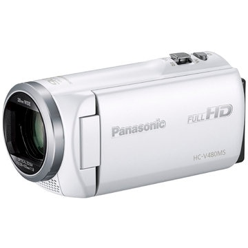 Panasonic デジタルハイビジョンビデオカメラ (ホワイト) HC-V480MS-W