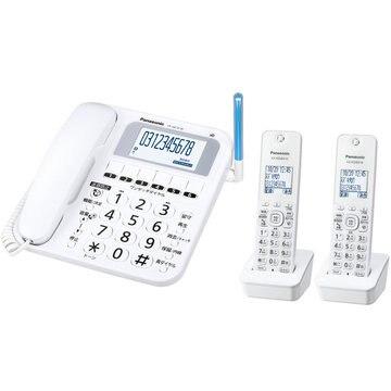 パナソニック コードレス電話機(子機2台付)(ホワイト) VE-GE10DW-W