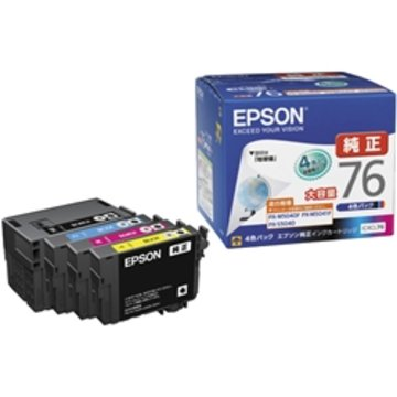 EPSON ビジネスインクジェット用 大容量インク/4色パック IC4CL76