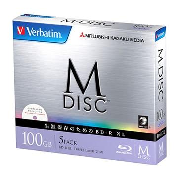 三菱電機 M-DISC BD-R XL 100GB 2-4x 5mmケース5P ホワイト DBR100YMDP5V1