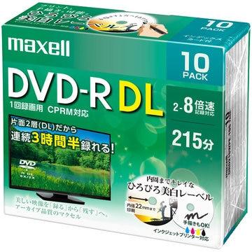 maxell 録画用 DVD-R DL 2-8X 10枚 5mmプラケース ホワイト DRD215WPE.10S