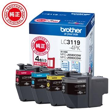ブラザー インクカートリッジ大容量タイプ お徳用4色パック LC3119-4PK