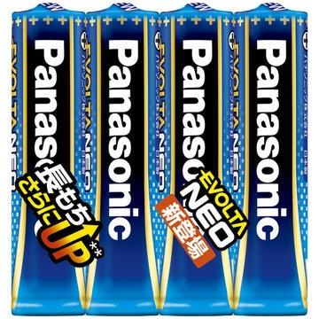 パナソニック 乾電池エボルタネオ 単4形 4本シュリンクパック LR03NJ/4SE