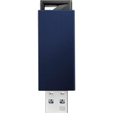 I-ODATA USB3.0/2.0対応 ノック式USBメモリー 8GB ブルー U3-PSH8G/B