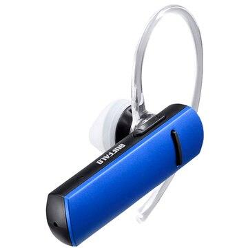 BUFFALO Bluetooth4.1対応 片耳ヘッドセット ブルー BSHSBE200BL