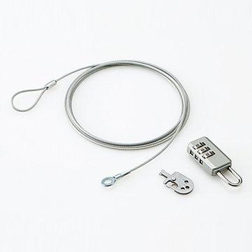 ELECOM セキュリティワイヤー/ダイヤル式南京錠/通常キー ESL-10A