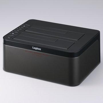 ロジテック 2Bayスタンド型HDD+SSDデュプリケーターケース/USB3.0 LGB-2BDPU3ES