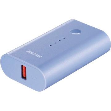 バッファロー モバイルバッテリー 6700mAh 自動判別 1ポート ブルー BSMPB6720P1BL