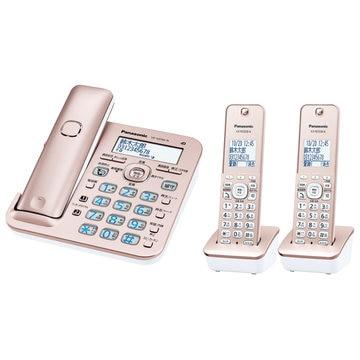 パナソニック コードレス電話機(子機2台)(ピンクゴールド) VE-GD56DW-N