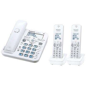 パナソニック コードレス電話機(子機2台)(ホワイト) VE-GD56DW-W
