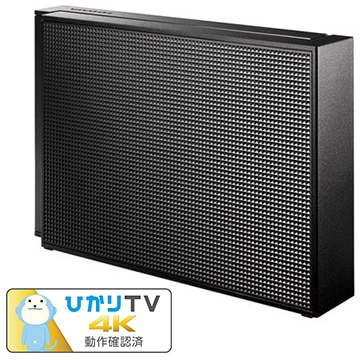 IODATA USB3.1 Gen1対応 外付HDD 4TB ブラック HDCZ-UT4KC
