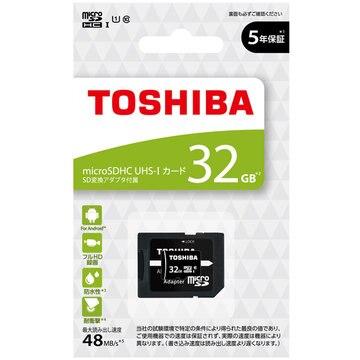 東芝 microSDHC UHS-I メモリカード 32GB MSDBR48N32G