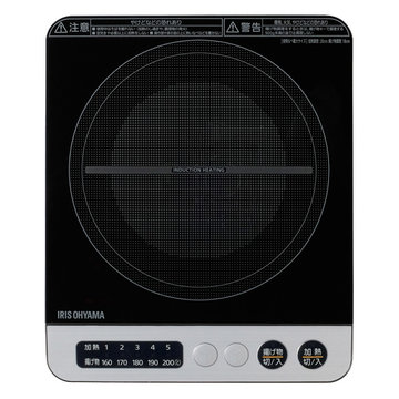 アイリスオーヤマ IHコンロ 1000W ブラック IHK-T36-B
