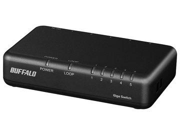 BUFFALO Giga 5Pスイッチ 電源外付 プラ ブラック LSW6-GT-5EPL/BK