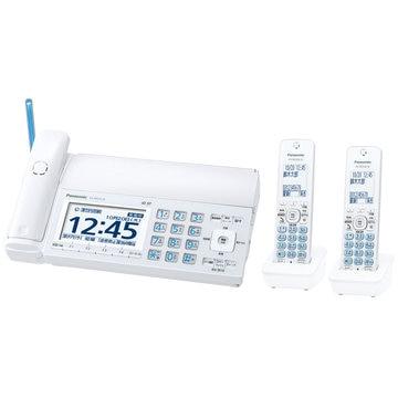 Panasonic デジタルコードレスファクス(子機2台)(ホワイト) KX-PD725DW-W