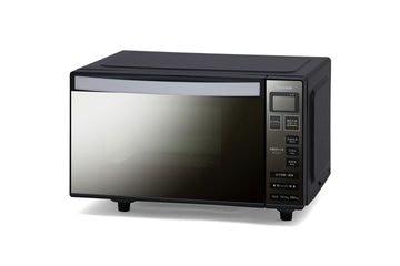 アイリス 電子レンジ フラットテーブル ミラーガラス ブラック MO-FM1804-B