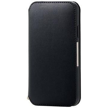ELECOM iPhone 11/ソフトレザーケース/磁石付/ブラック PM-A19CPLFY2BK