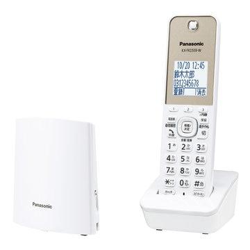 Panasonic コードレス電話機(子機1台)(ホワイト) VE-GDL45DL-W