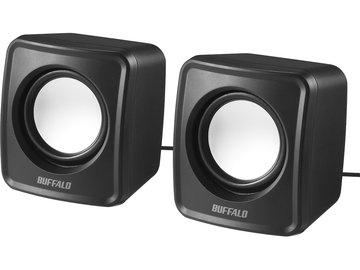 BUFFALO PC用スピーカー USB電源コンパクトサイズ ブラック BSSP100UBK
