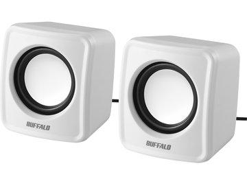 BUFFALO PC用スピーカー USB電源コンパクトサイズ ホワイト BSSP100UWH